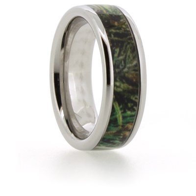 8mm Vitalium Pipe Ring with Camouflage Inlay