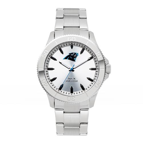 Jack Mason Carolina Panthers Silver Sport Bracelet Watch