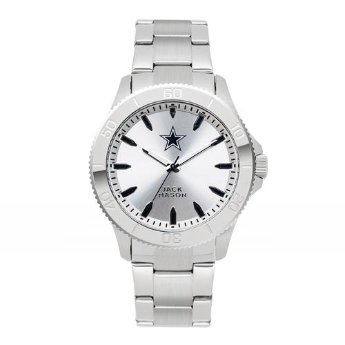 Jack Mason Dallas Cowboys Silver Sport Bracelet Watch