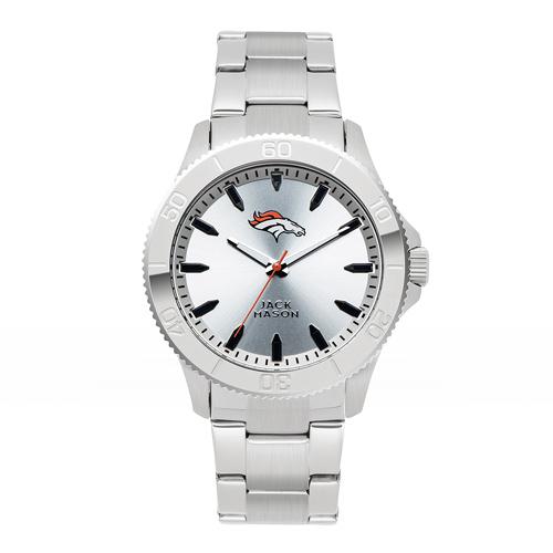 Jack Mason Denver Broncos Silver Sport Bracelet Watch