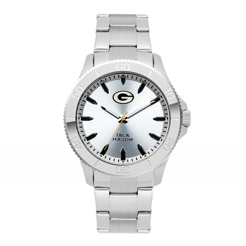 Jack Mason Green Bay Packers Silver Sport Bracelet Watch