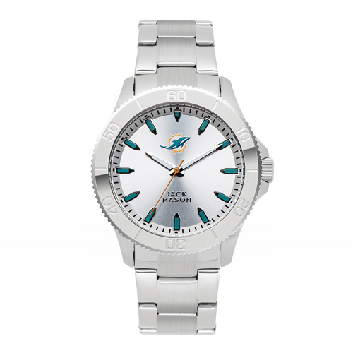 Jack Mason Miami Dolphins Silver Sport Bracelet Watch