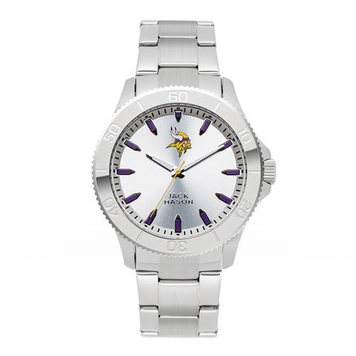 Jack Mason Minnesota Vikings Silver Sport Bracelet Watch