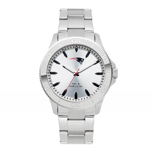 Jack Mason New England Patriots Silver Sport Bracelet Watch