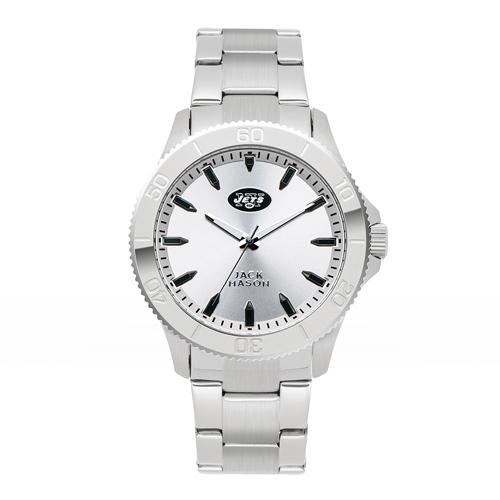 Jack Mason New York Jets Silver Sport Bracelet Watch