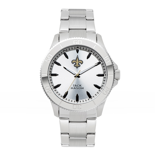 Jack Mason New Orleans Saints Silver Sport Bracelet Watch