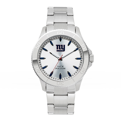 Jack Mason New York Giants Silver Sport Bracelet Watch
