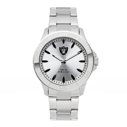 Jack Mason Oakland Raiders Silver Sport Bracelet Watch