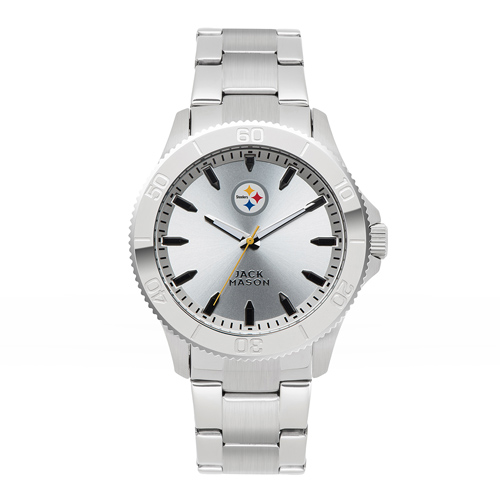 Jack Mason Pittsburgh Steelers Silver Sport Bracelet Watch