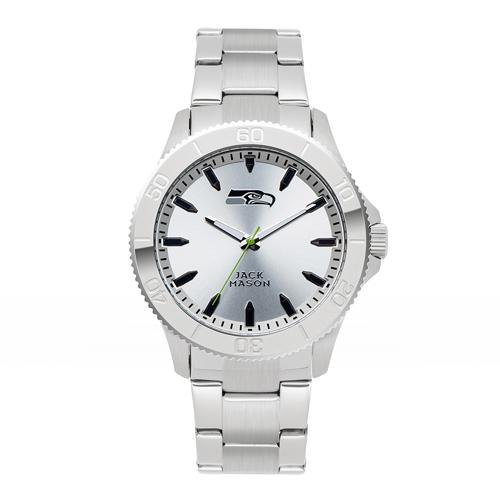 Jack Mason Seattle Seahawks Silver Sport Bracelet Watch