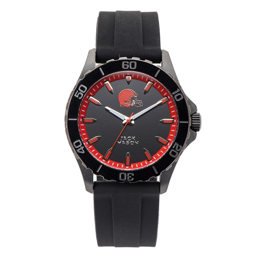 Jack Mason Cleveland Browns Silicone Strap Watch