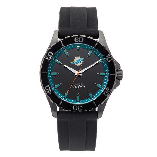 Jack Mason Miami Dolphins Silicone Strap Watch