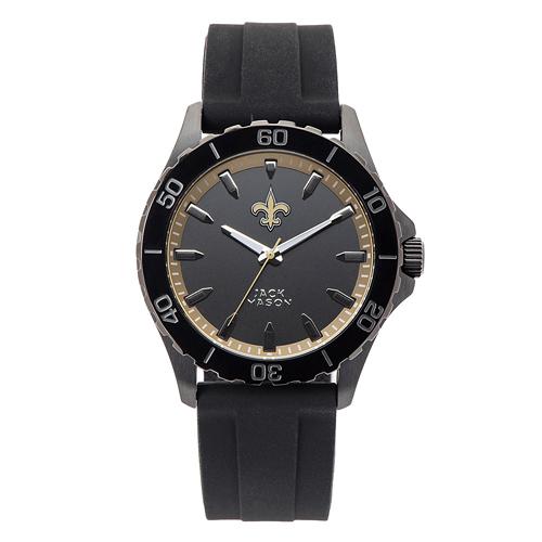 Jack Mason New Orleans Saints Silicone Strap Watch