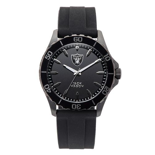 Jack Mason Oakland Raiders Silicone Strap Watch