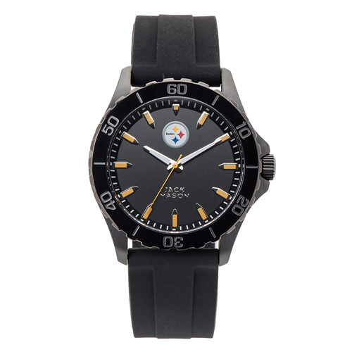 Jack Mason Pittsburgh Steelers Silicone Strap Watch