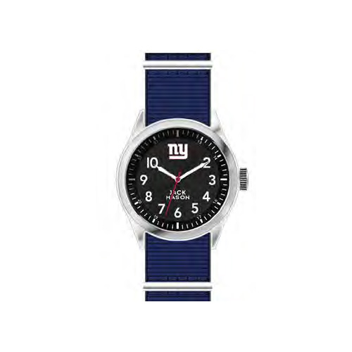 Jack Mason New York Giants Men's Nylon Strap Watch