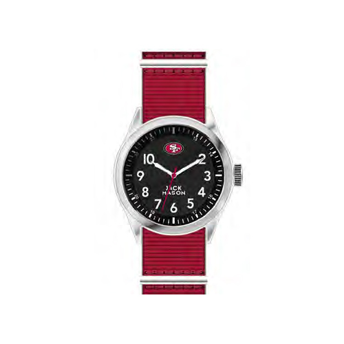 Jack Mason San Francisco 49ers Men's Nylon Strap Watch