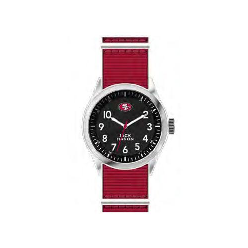 Jack Mason San Francisco 49ers Men's Nylon Strap Watch