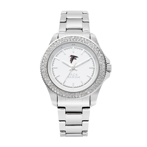 Jack Mason Atlanta Falcons Ladies' Stainless Steel Watch with Swarovski Crystals
