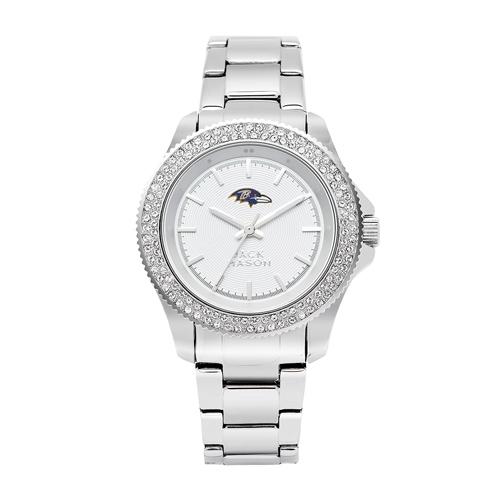 Jack Mason Baltimore Ravens Ladies' Steel Swarovski Crystal Watch