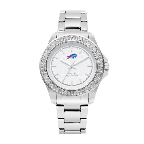 Jack Mason Buffalo Bills Ladies' Stainless Steel Watch with Swarovski Crystals