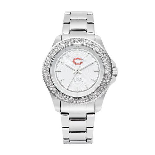Jack Mason Chicago Bears Ladies' Steel Swarovski Crystal Watch