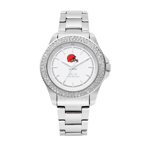 Jack Mason Cleveland Browns Ladies' Steel Swarovski Crystal Watch