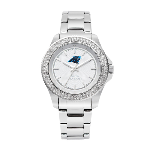 Jack Mason Carolina Panthers Ladies' Steel Swarovski Crystal Watch