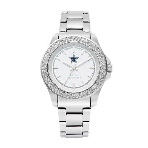 Jack Mason Dallas Cowboys Ladies' Stainless Steel watch with Swarovski Crystals