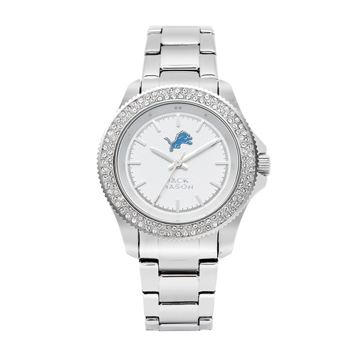 Jack Mason Detroit Lions Ladies' Stainless Steel Watch with Swarovski Crystals