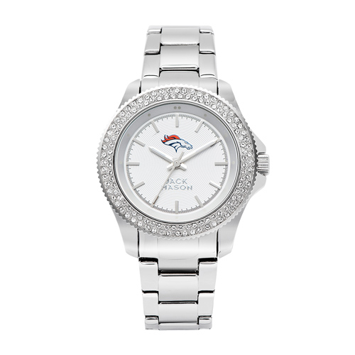 Jack Mason Denver Broncos Ladies' Stainless Steel Watch with Swarovski Crystals