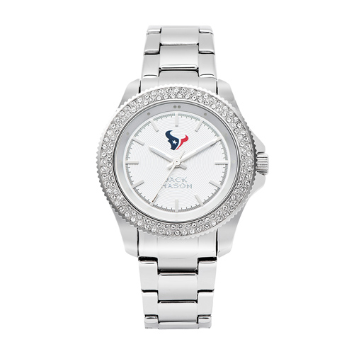 Jack Mason Houston Texans Ladies' Steel Watch with Swarovski Crystals