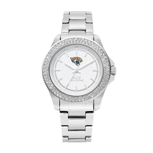 Jack Mason Jacksonville Jaguars Ladies' Stainless Steel Watch with Swarovski Crystals