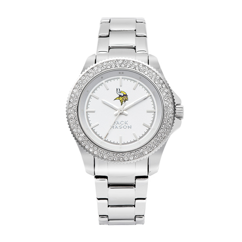 Jack Mason Minnesota Vikings Ladies' Steel Swarovski Crystal Watch