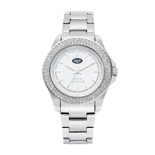 Jack Mason New York Jets Ladies' Stainless Steel Watch with Swarovski Crystals