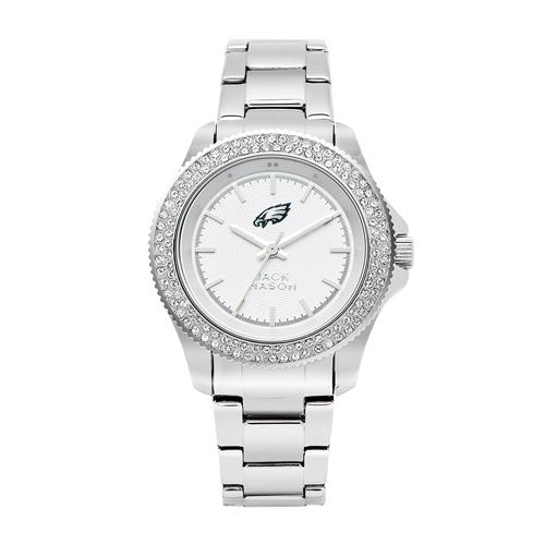 Jack Mason Philadelphia Eagles Ladies' Steel Swarovski Crystal Watch