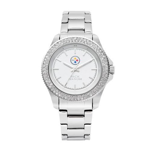 Jack Mason Pittsburgh Steelers Ladies' Stainless Steel Watch with Swarovski Crystals