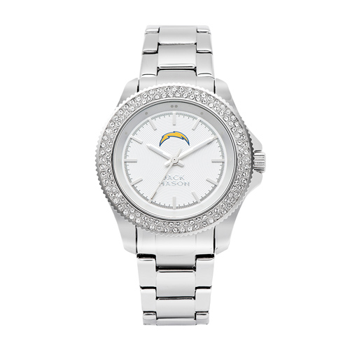 Jack Mason San Diego Chargers Ladies' Stainless Steel Watch with Swarovski Crystals