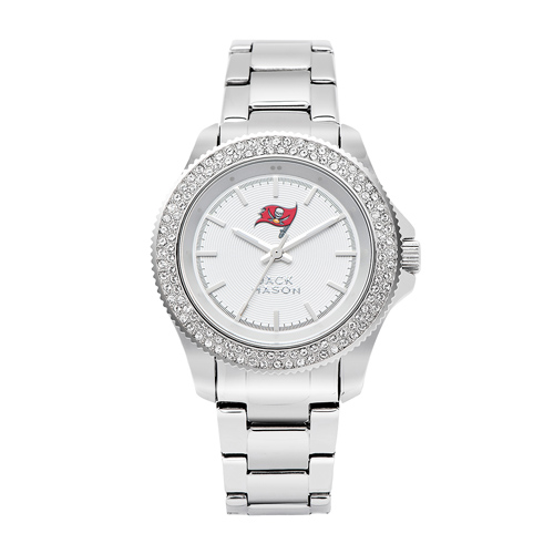 Jack Mason Tampa Bay Buccaneers Ladies' Stainless Steel Watch with Swarovski Crystals