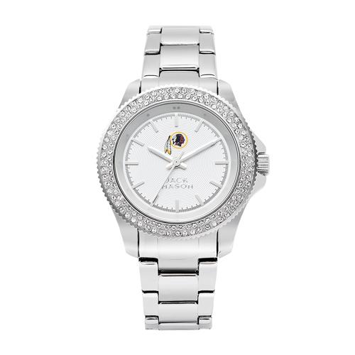Jack Mason Washington Redskins Ladies' Stainless Steel Watch with Swarovski Crystals