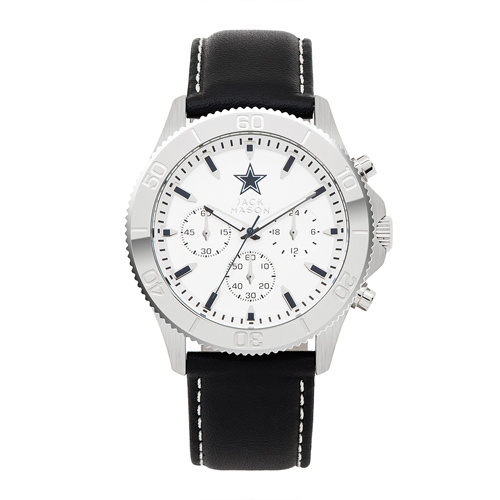 Jack Mason Dallas Cowboys Leather Chronograph Watch