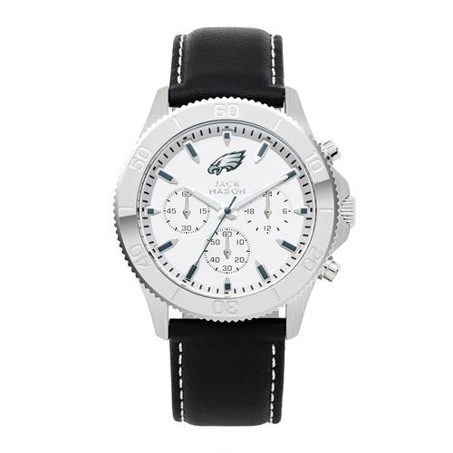 Jack Mason Philadelphia Eagles Leather Chronograph Watch