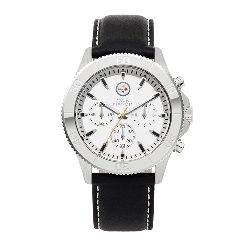 Jack Mason Pittsburgh Steelers Leather Chronograph Watch