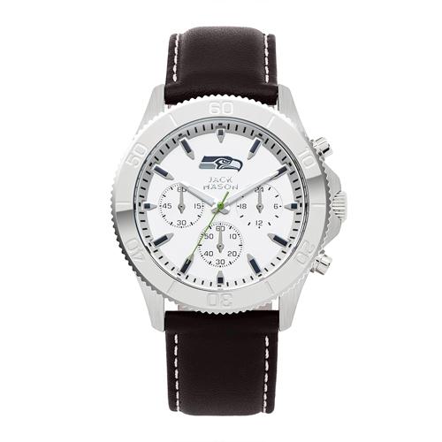 Jack Mason Seattle Seahawks Leather Chronograph Watch