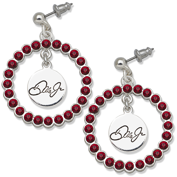 Dale Earnhardt Jr. Signature Spirit Crystal Logo Earrings
