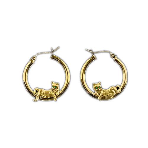 14KT Gold Cat Lounge Earrings