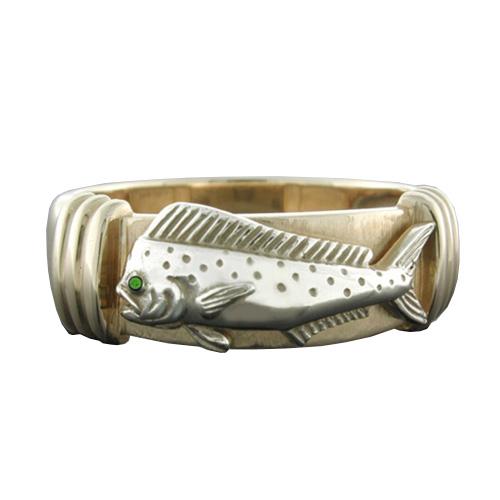 14kt Two-tone Gold Mahi Platform Ring