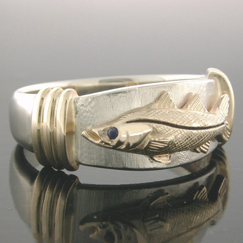 14kt Two-tone Gold Snook Ring