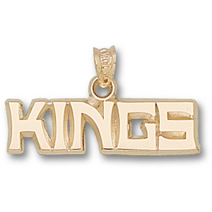Los Angeles Kings 1in x 1/4in Pendant - 14kt Gold