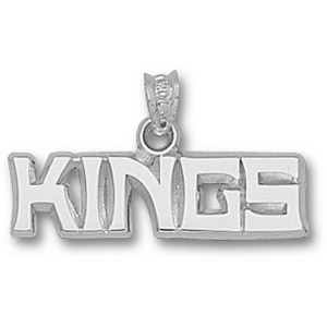 Los Angeles Kings 1in x 1/4in Pendant - Sterling Silver